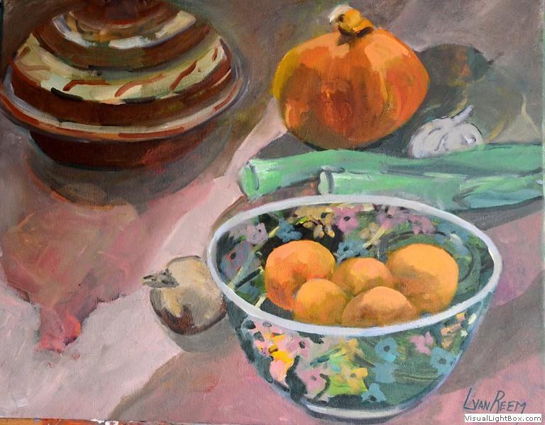 schaal met sinaasappels